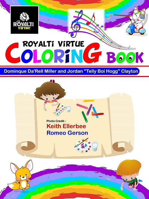 Royalti Virtue Coloring Activity Book