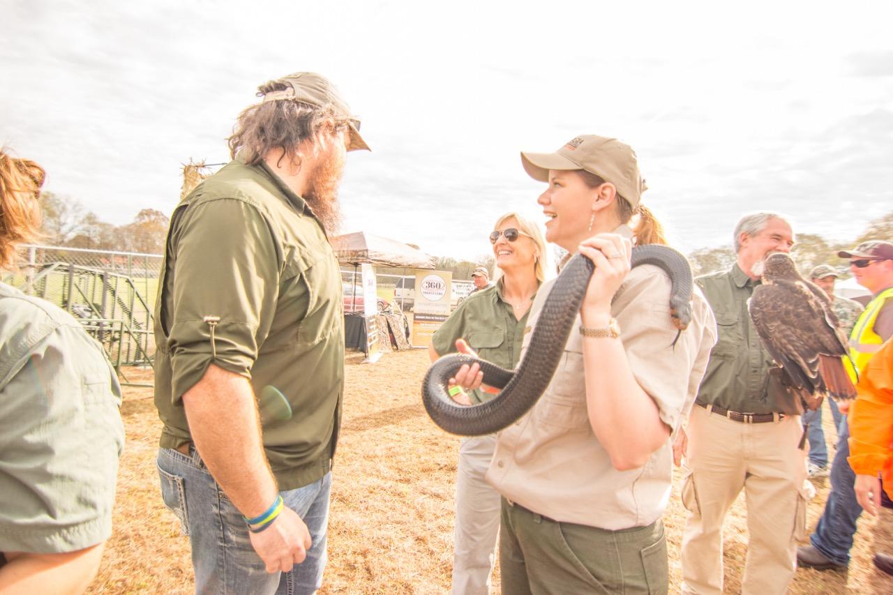 DNR Linda May with Justin Martin
