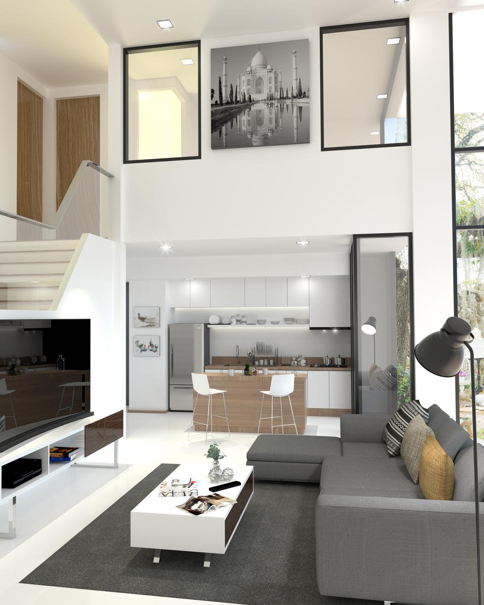 2 storeys house living area