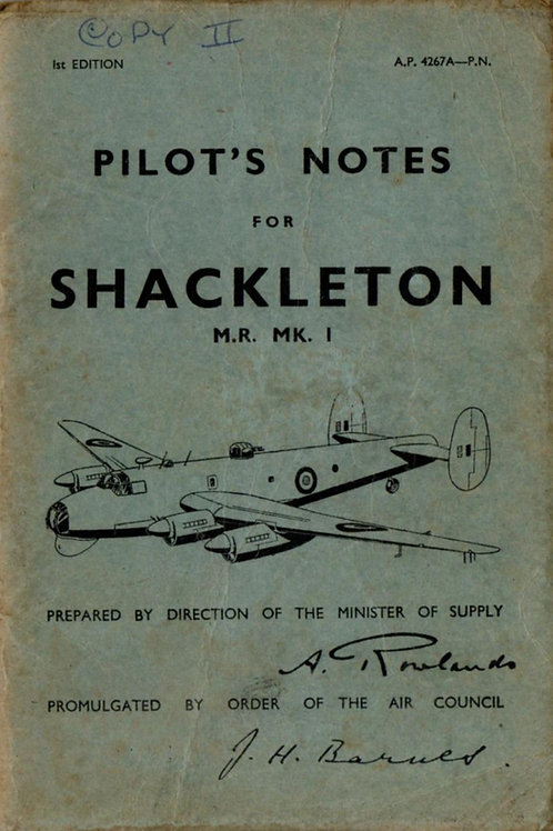 Avro Shackleton Mr. Mk.1 Pilot Notes