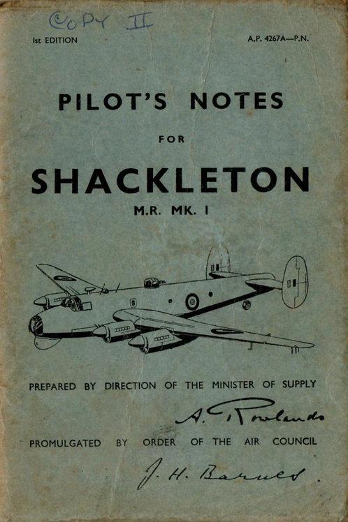 Avro Shackleton MR. Mk. 1 Pilot's Notes (pdf)