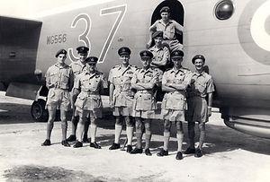 Avro Shackleton WG556 and crew (Sarah Burton)