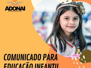Comunicado - Educação Infantil