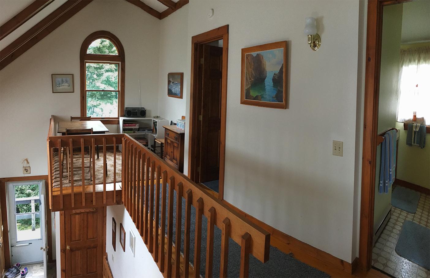 Second floor hallway and loft