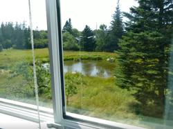 Bedroom view overlooking the pond