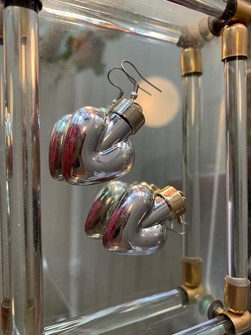Two-toned Bubble Heart Earrings