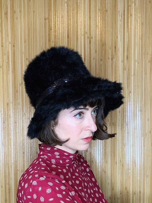 1960s Christian Dior Fuzzy Chapeau