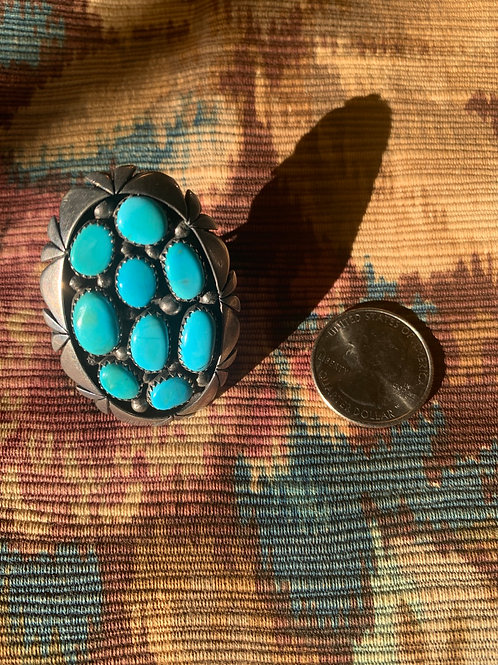 Turquoise and Sterling Navajo Ring