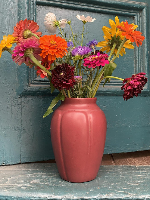 Zanesville American Stoneware Matte Rose Vase