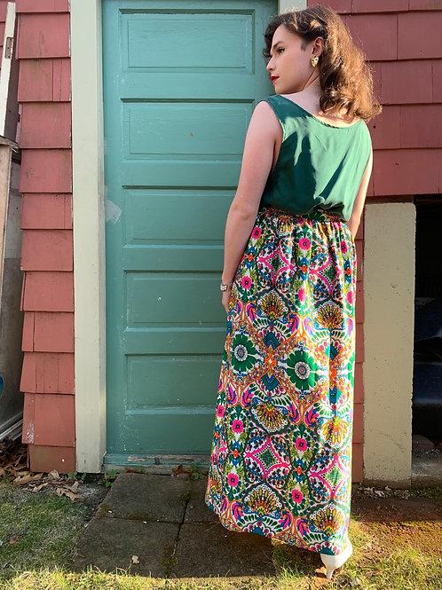 1970s Groovy Wrap Skirt