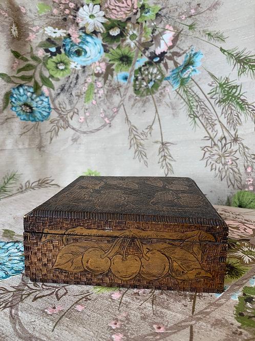 Antique Pyrography Box