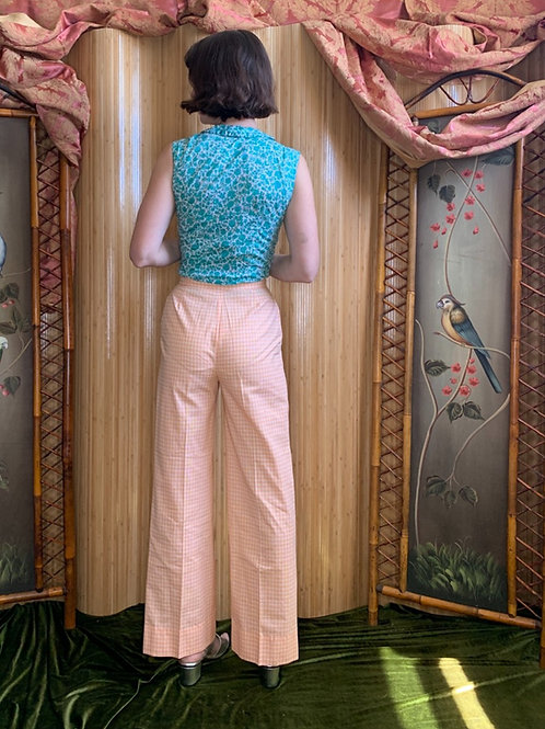 1970s Creamsicle Cotton Flares