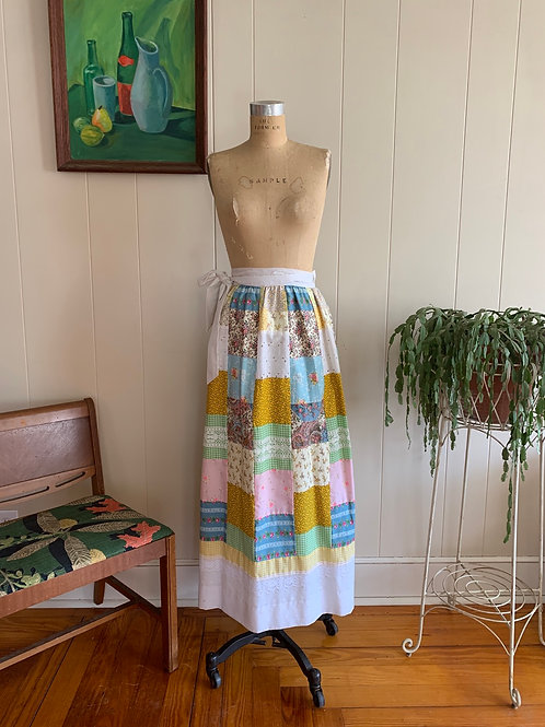 1970s Quilted Wrap Skirt