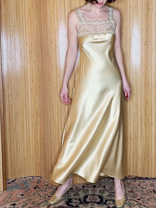 Vintage Christian Dior Liquid Gold Slip Dress