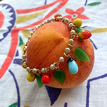 Vintage Costume Jewelry Fruit Bracelet