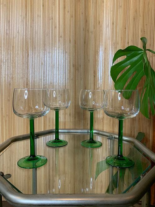 Vintage Luminarc French Wine Glasses