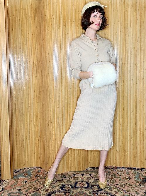 1930s Cream Wool Knit Set