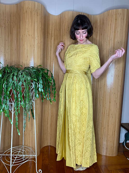 1960s Ribbon and Lace Gown