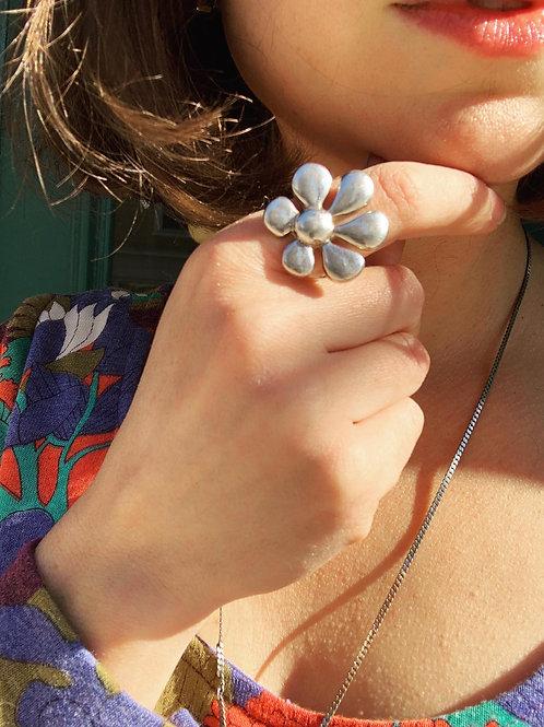 Sterling Flower Power Ring
