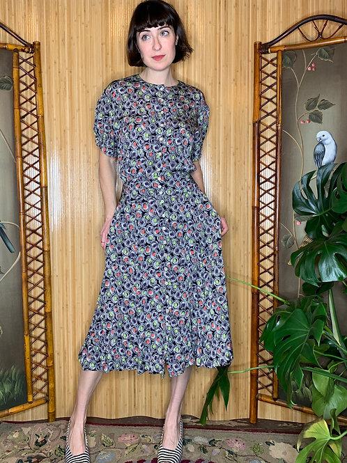 Vintage Liz Claiborne Rayon Print Dress