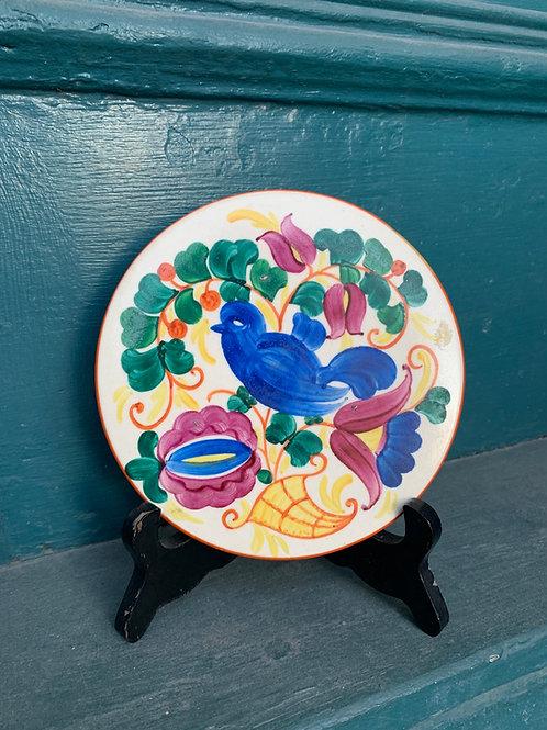 Hand Painted Czech Art Pottery Decorative Trivet