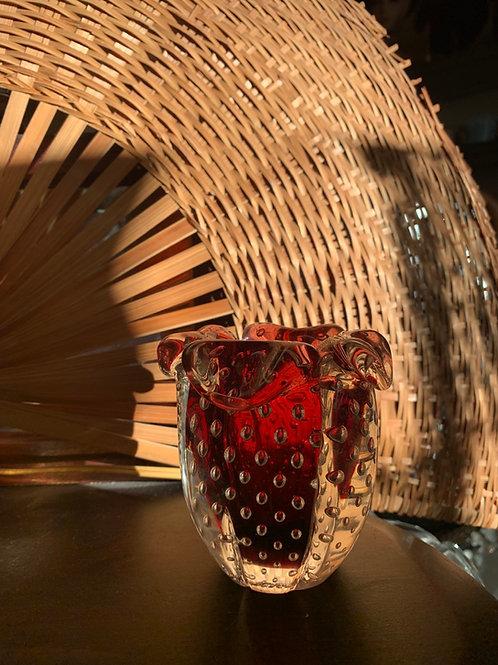 MCM Murano Glass Controlled Bubble Vase