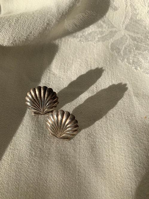Sterling Seashell Earrings