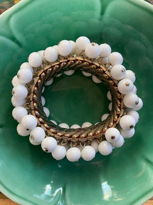 1950s Glass Bead Expansion Bracelet