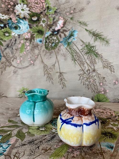 Weimar Era German Pinch-Pot Miniature Vases
