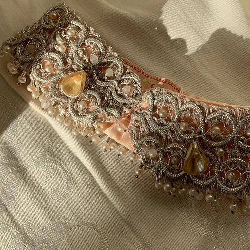 1940s Hand Beaded Ladies Collar