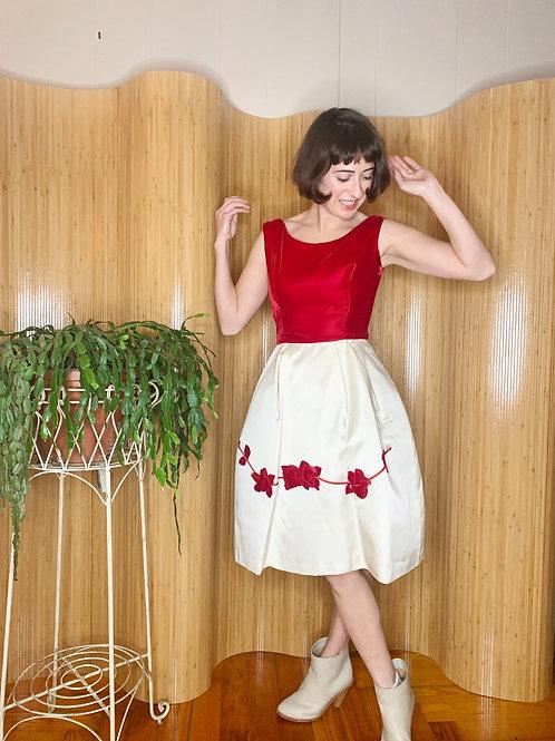 Silk and Velvet Tulip Dress