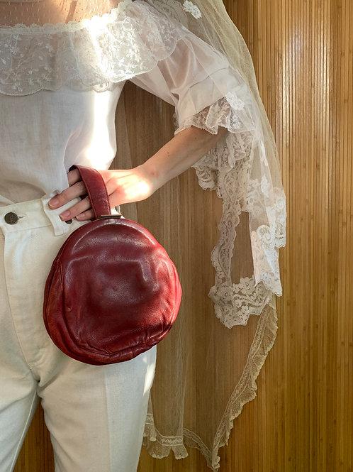 Circular Leather Handbag