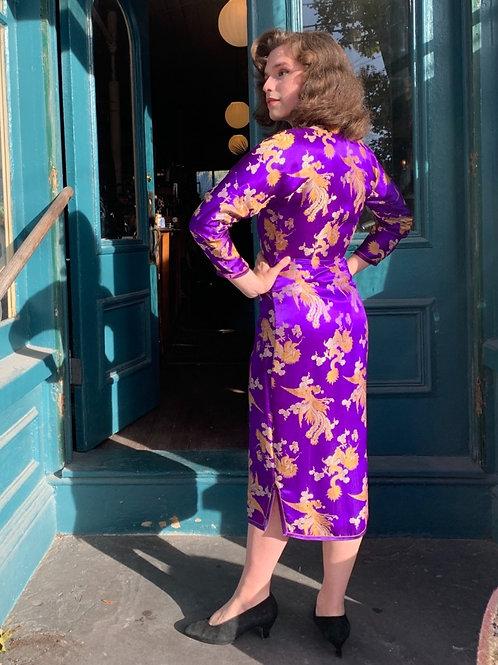 1950s Cheongsam Qipao Silk Dress