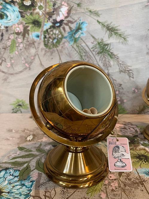 Mid Century Brass Globe Cigarette Holder