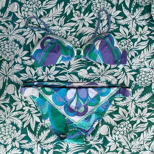 1960s Emilio Pucci Two-Piece Mod Swimsuit