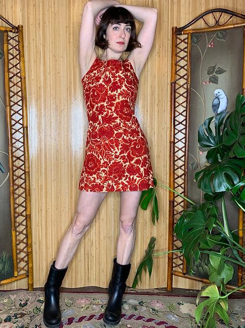 1960s Brocade Mini Dress