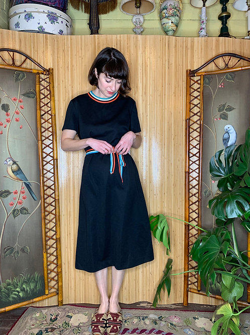 1970s Ribbon Shift Dress