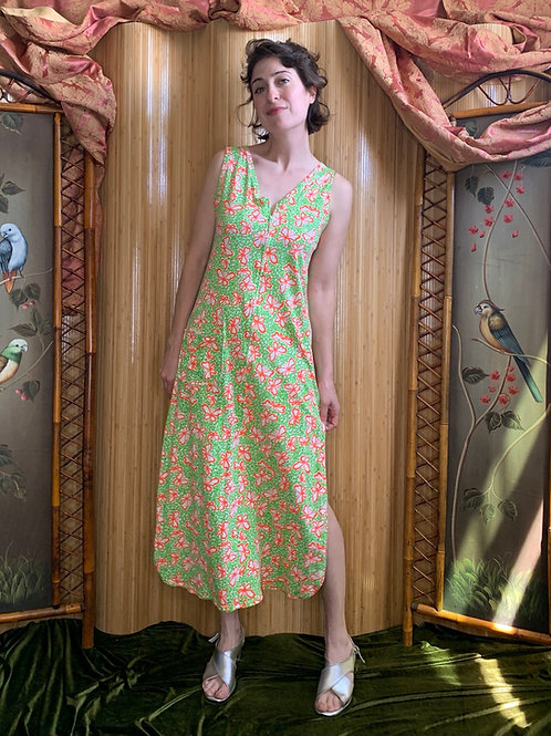 """1960s Lilly Pulitzer """"The Lilly"""" Butterfly Print Dress/ Beach Coverup"""