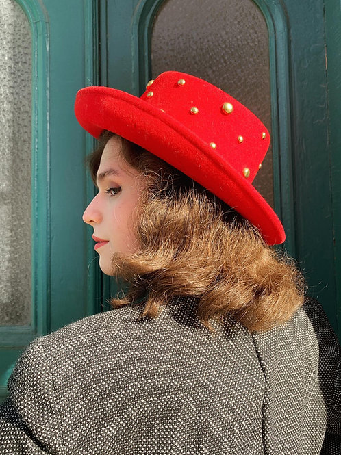 90s Betmar Studded Felt Hat