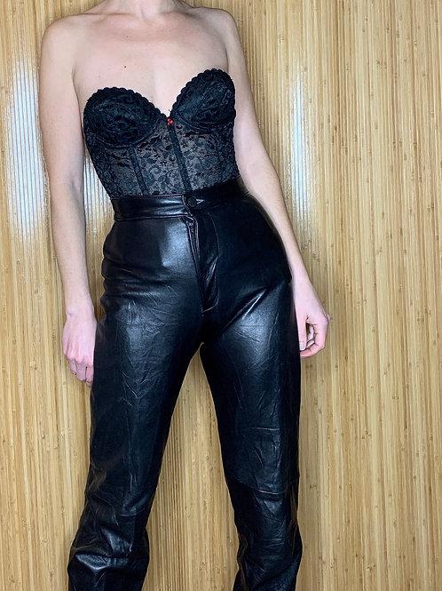 1960s Black Lace Bustier