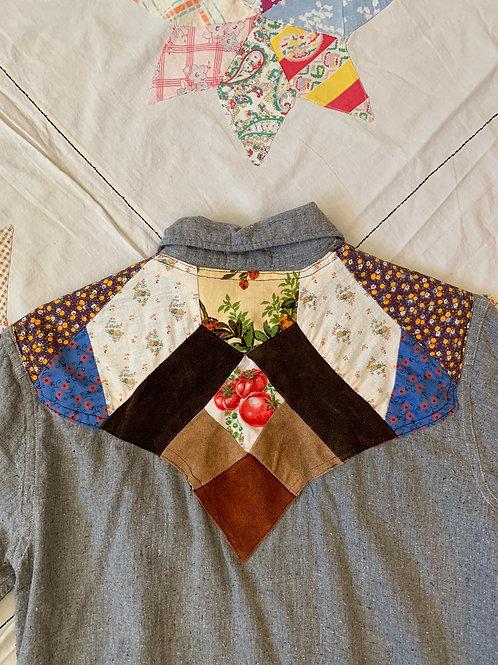 Handmade Patchwork Button-Up