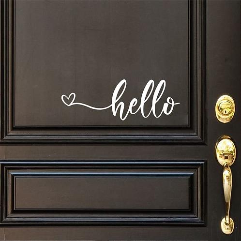 Hello Heart Door Decal