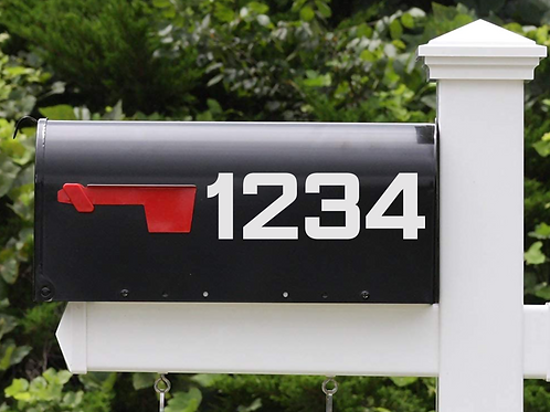 Mailbox Numbers, set of two