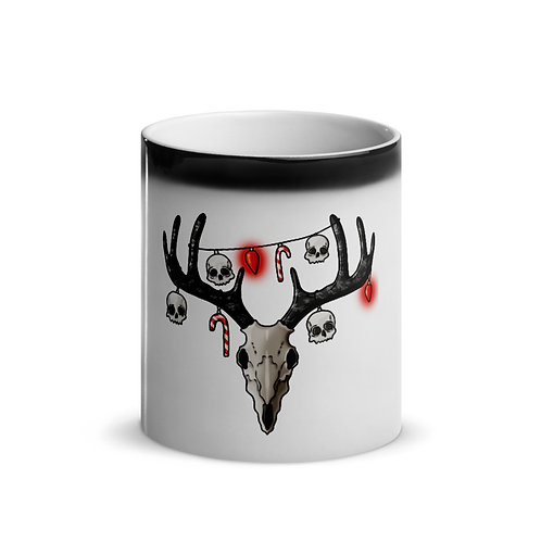 Glossy Magic Mug with Skull Lights
