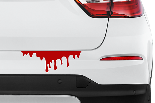 Blood Drip car decal