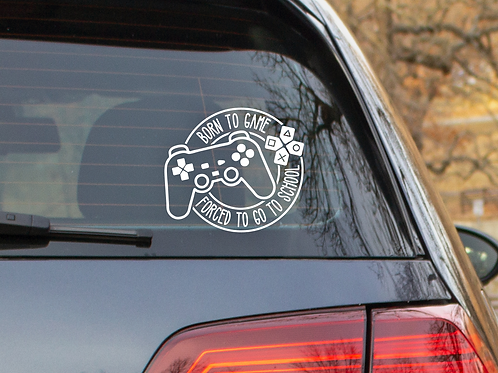 Born to Game car decal