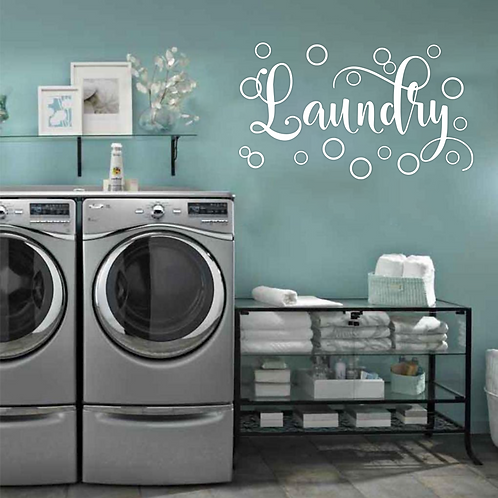 Laundry Bubbles wall decal