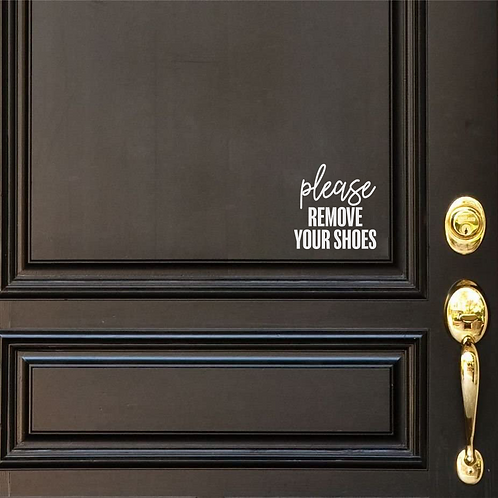 Remove Shoes door decal