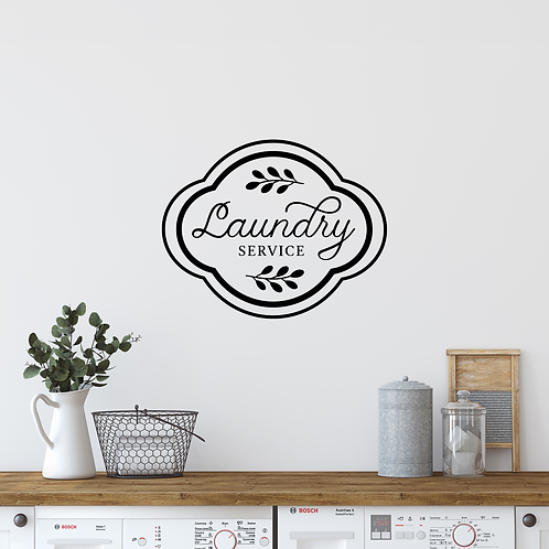 Laundry Service wall decal