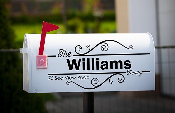 custom personalized vinyl lettering mailbox art monogram
